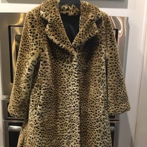 cheetah fur coat jacket